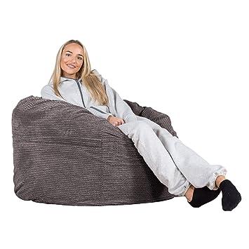 Lounge Pug Sitzsack Lounge Sessel Pom Pom Anthrazit Top