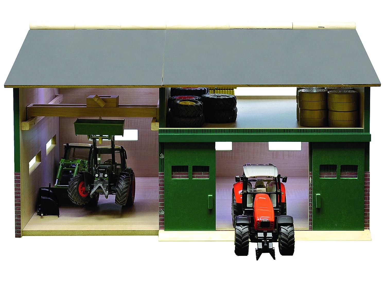 Kids Globe 610410 - Bauernhof Werkstatt Schuppen Maßstab 1 32 41 x 54 x 32 cm, passend zu Siku