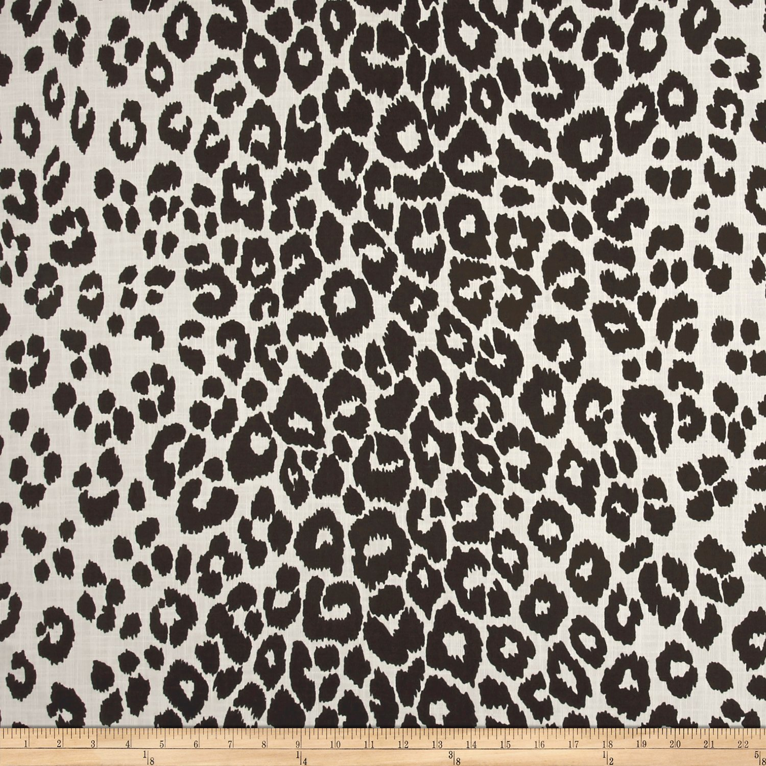 Schumacher Indoor/Outdoor Iconic Leopard Black by F. Schumacher & Company