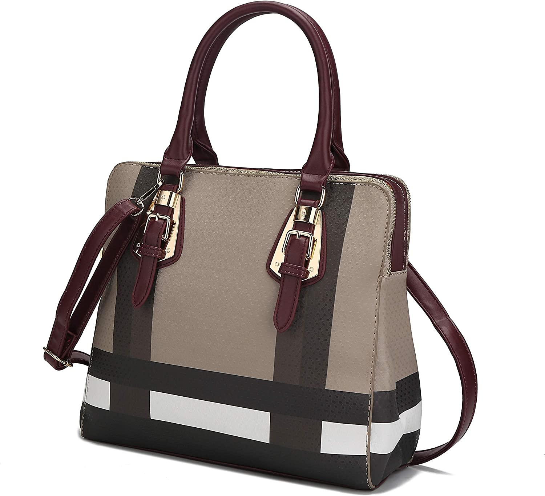 MKF Crossbody Tote Bag for Women - Handbag Purse Shoulder Strap - Top Handle Lady Satchel PU Leather Pocketbook