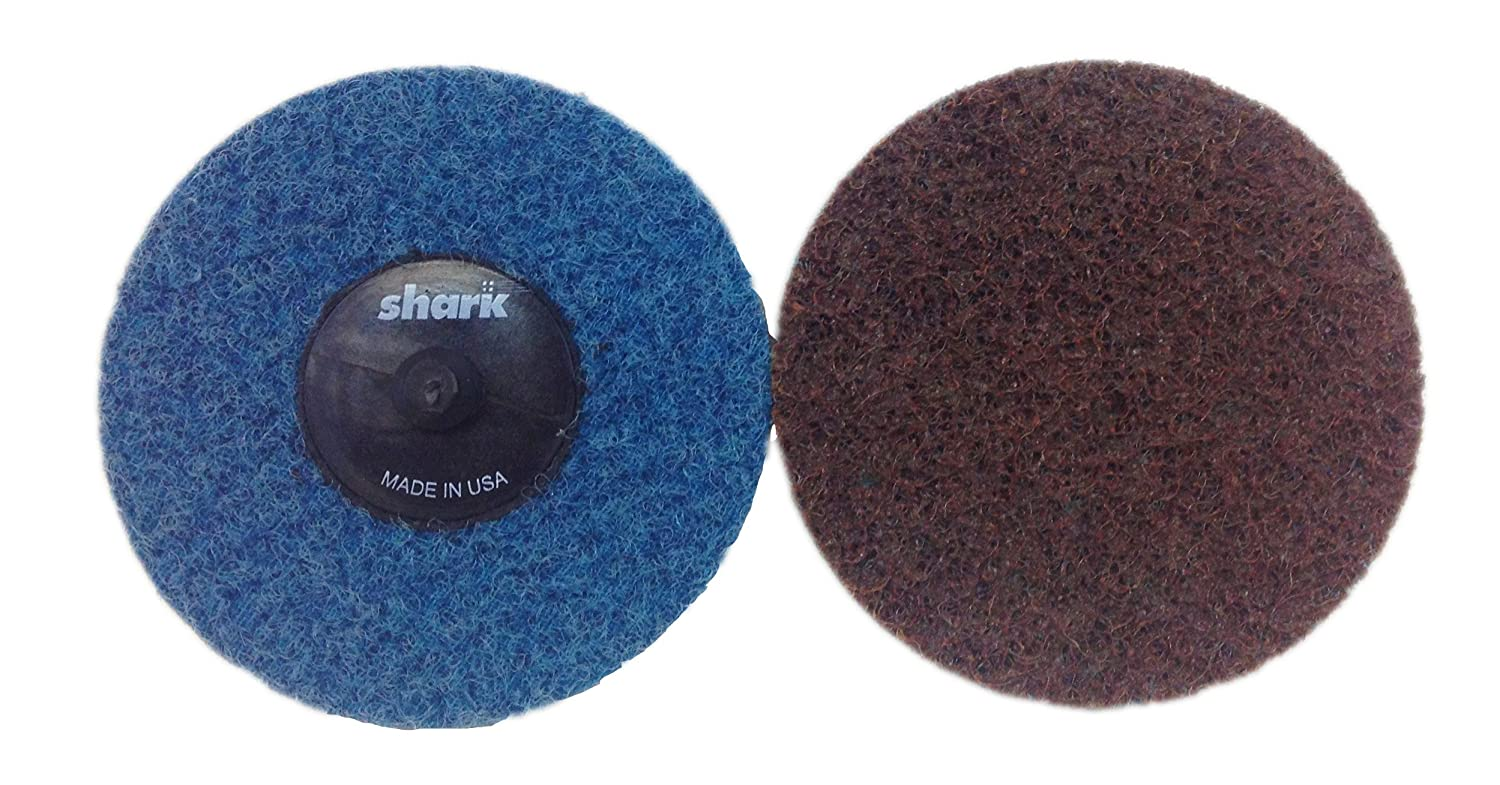 Shark Shark 631TBC 3-Inch Star-Brite Surface Prep Discs Brown Grit-Extra Coarse Pack-100