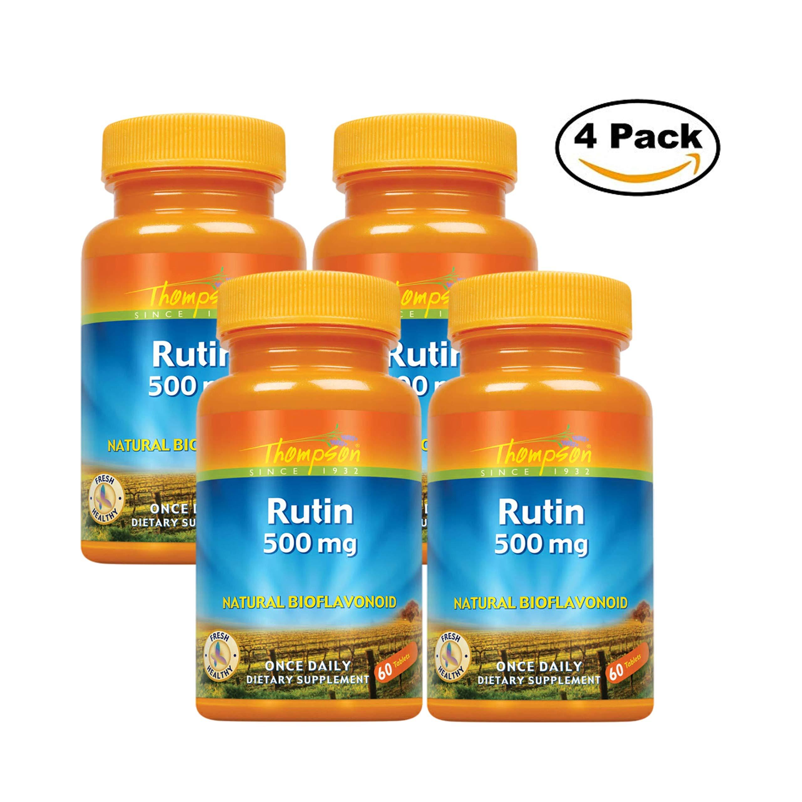 Thompson Rutin 500 mg, 60-Count (Pack of 4)