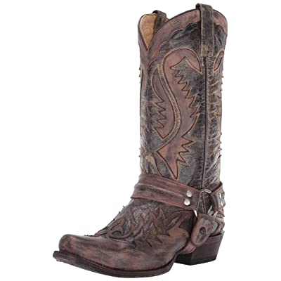 Stetson Men's Outlaw Distressed Harness Riding Boot   Western