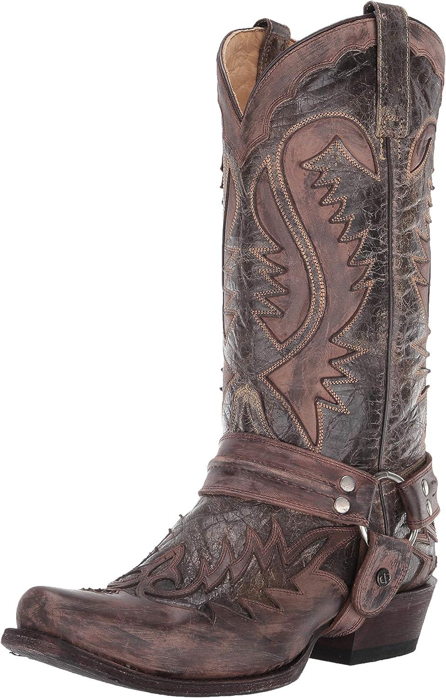 Mens Colt Fashion Harness Zip Western Cowboy Riding Boots