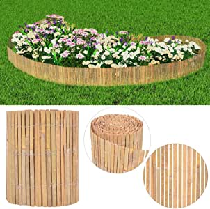 XuzhEU Valla de Jardín de bambú Valla de Malla de Alambre para Patio Trasero Protección de la privacidad Borde Valla Paneles con Tamaño: 1000 x 30 cm: Amazon.es: Jardín