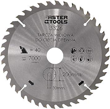 Hojas de sierra circular de 200 mm x 30 mm x 1,9 mm con 40