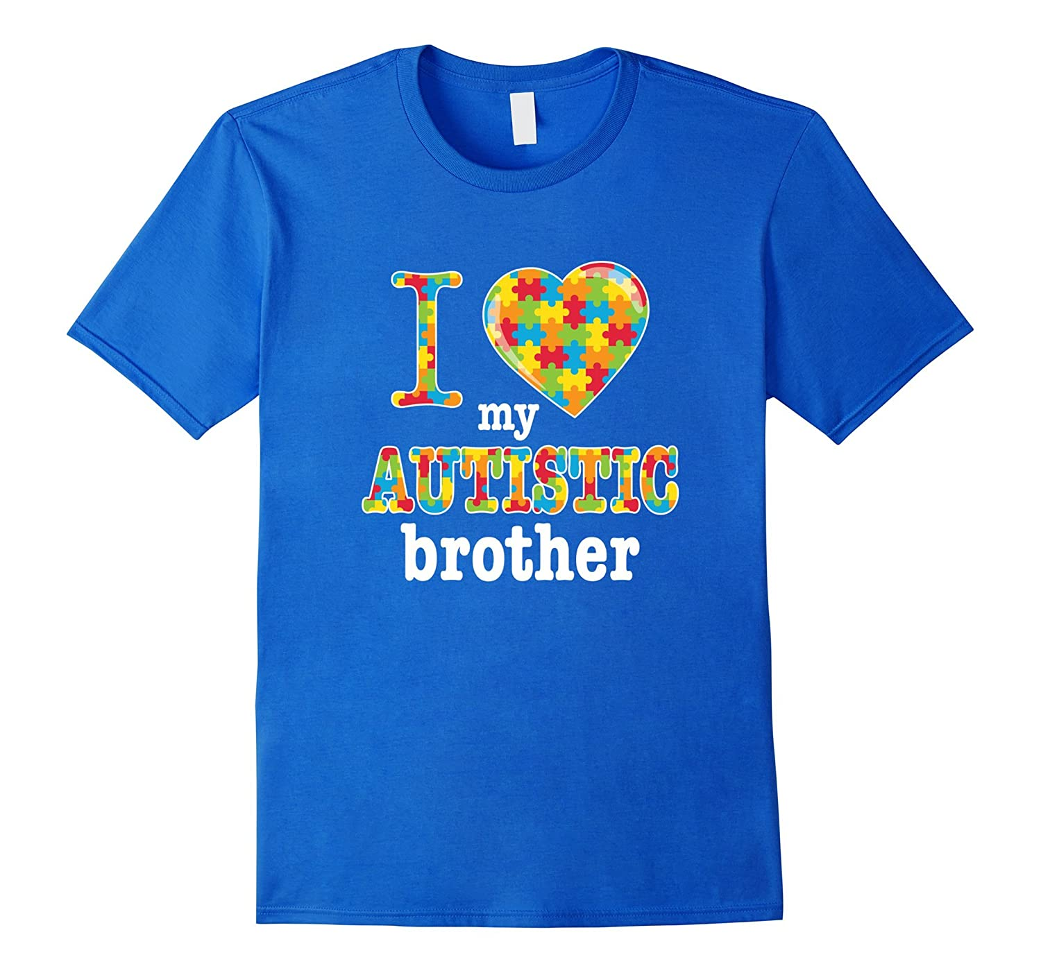 Autism Awareness T-Shirt – I Heart Love Autistic Brother