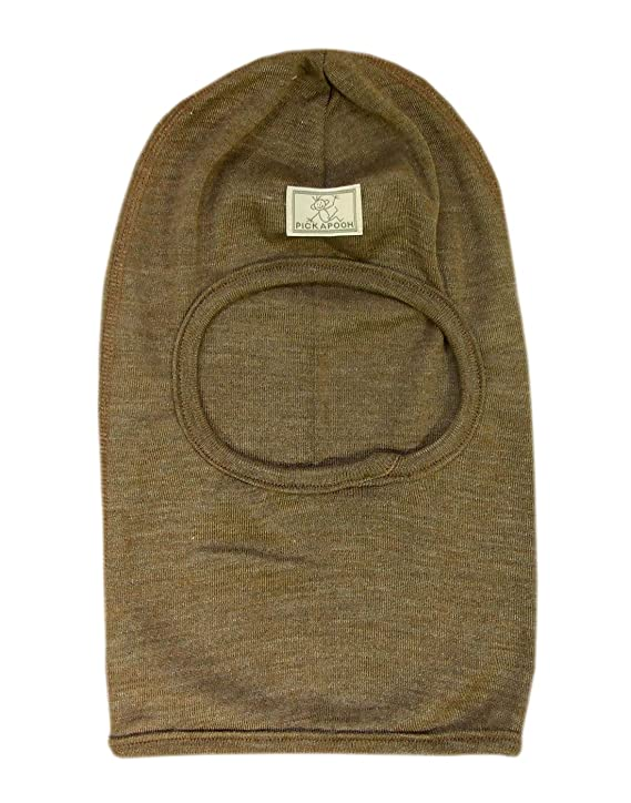 0cd0de6a95f Amazon.com  Pickapooh Hat Merino Wool Silk Balaclava Baby Boy Girl Children  Winter Organic Bosse  Clothing