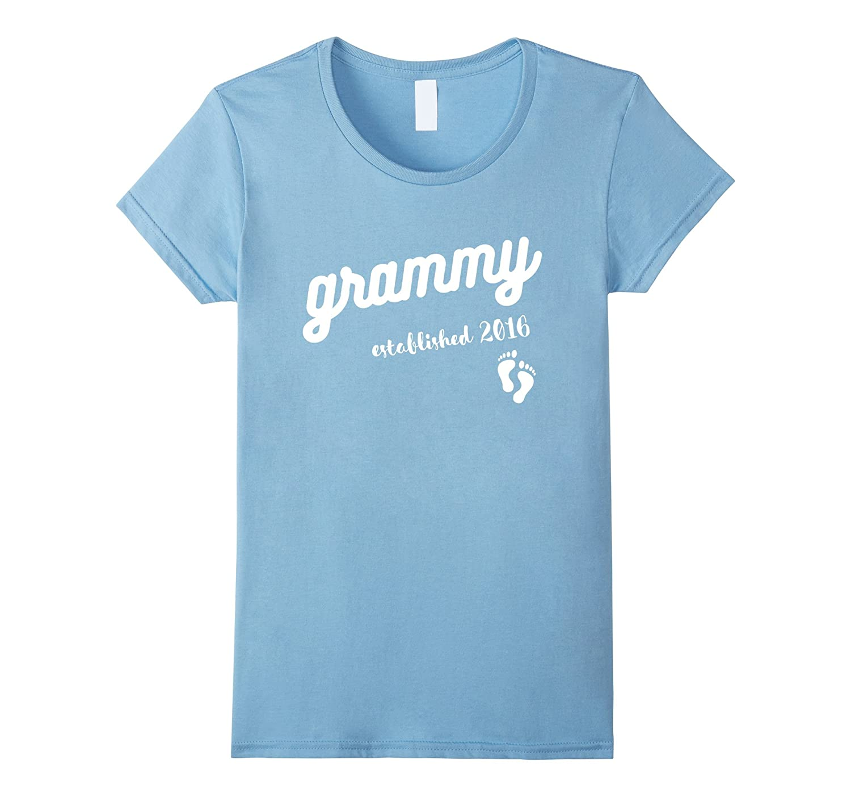 Women's Grammy Established 2016 Cute Baby Announcement T-Shirt-Art