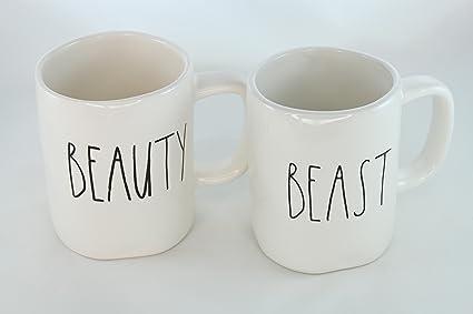 8a9d1bb9397 Rae Dunn Magenta Ceramic Mug Beauty Beast (Set of 2)