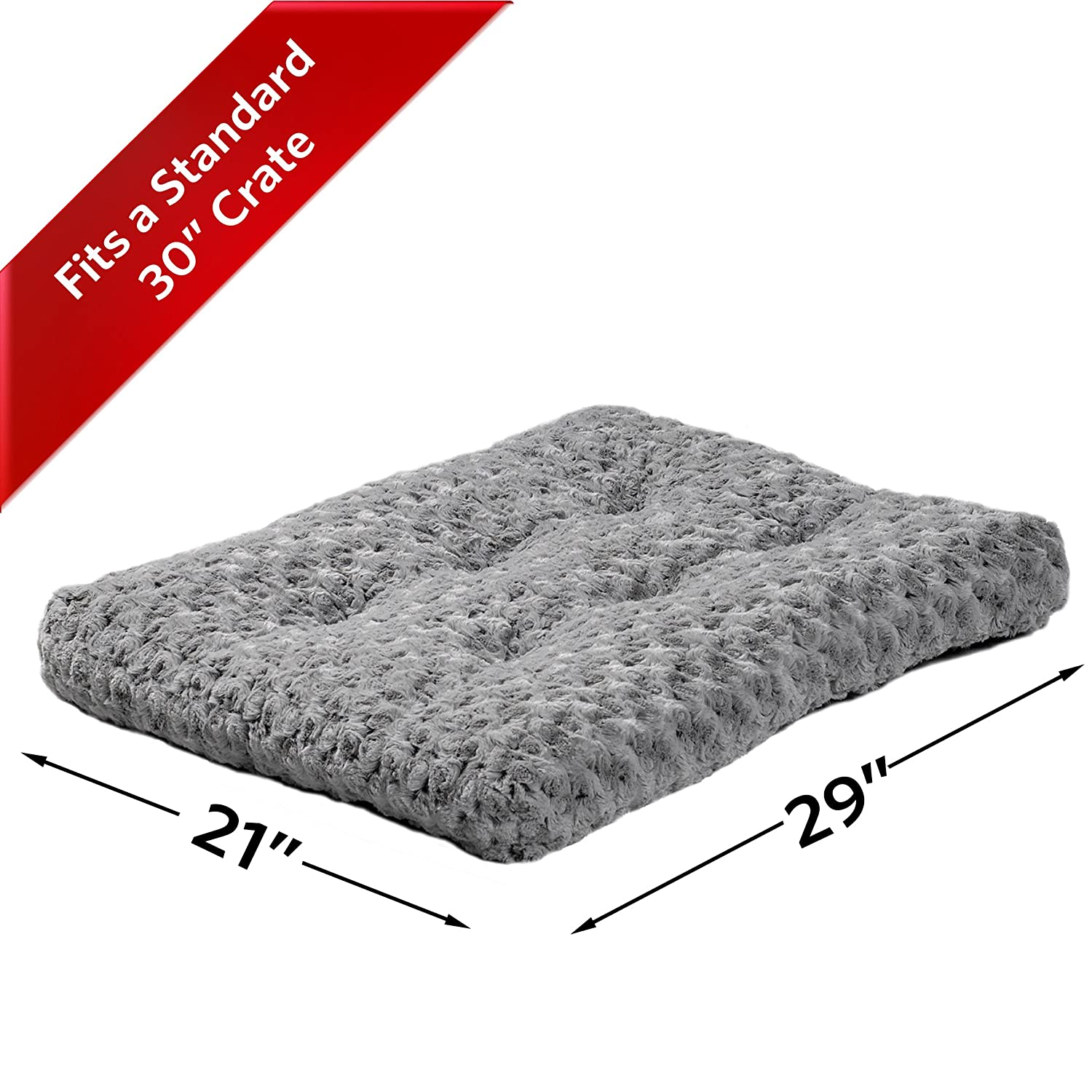 Amazon MidWest Quiet Time Pet Bed Deluxe Gray Ombre Swirl 29