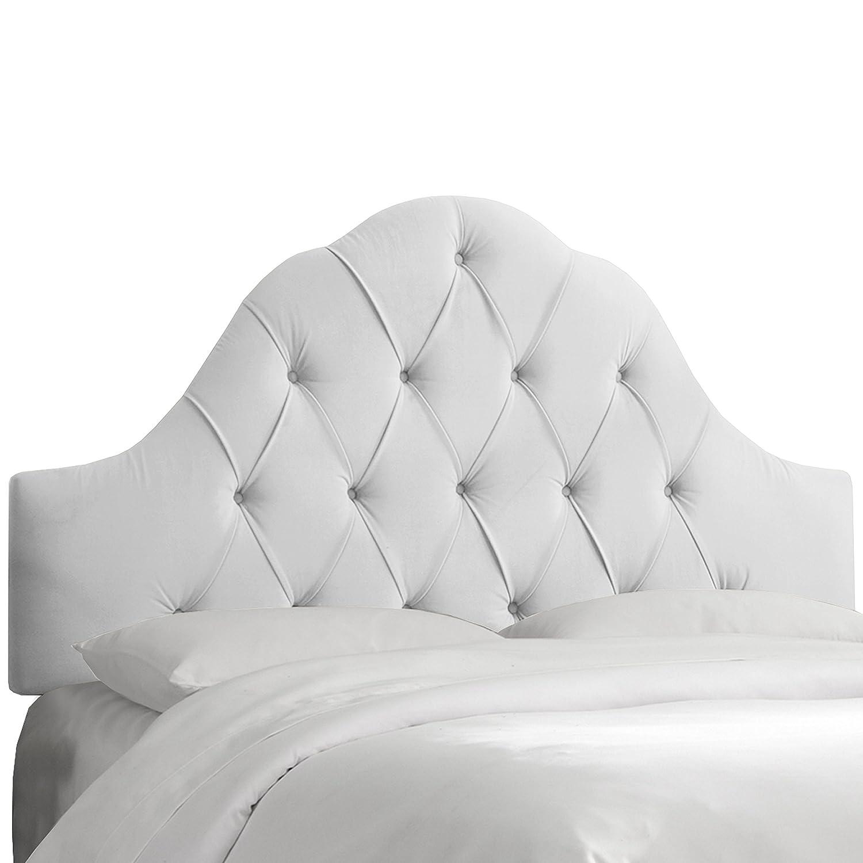 Amazon.com - Skyline Furniture Velvet Full/Queen Tufted High Arc ...