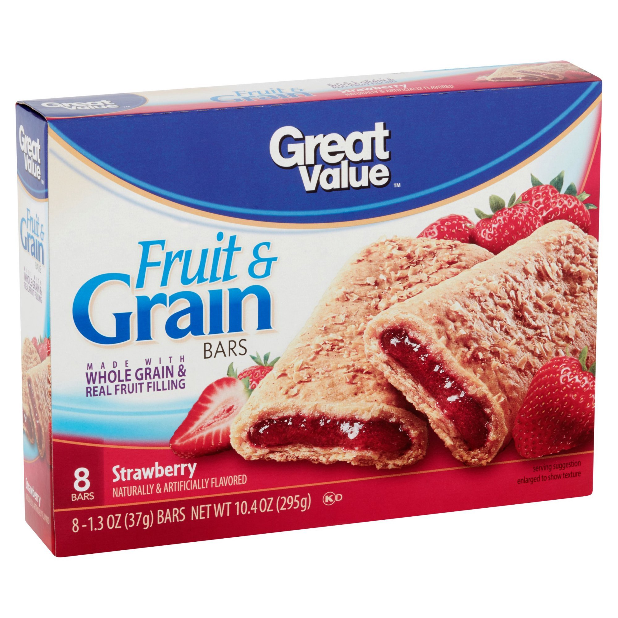 Strawberry Fruit & Grain Bars, 10.4 oz by Great Value