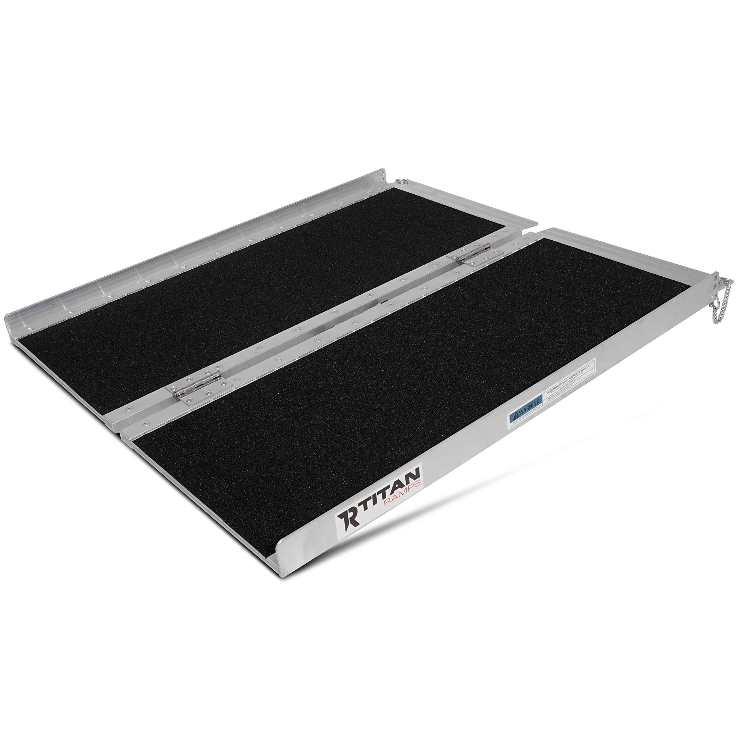 Titan 3' x 30'' Non-Skid Aluminum Briefcase Traction Ramp Folding Portable
