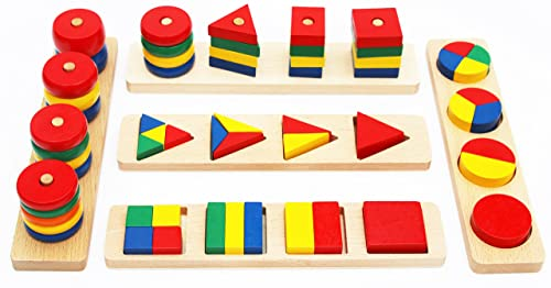 Juego de Figuras geométricas para Aprender matemáticas, Aprender Colores y Formas