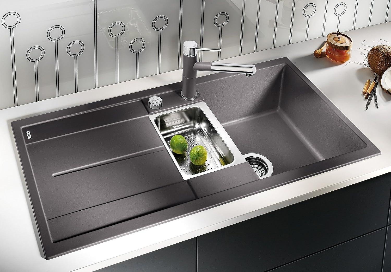 Blanco METRA 6 S, Küchenspüle, Silgranit PuraDur, anthrazit-schwarz ...