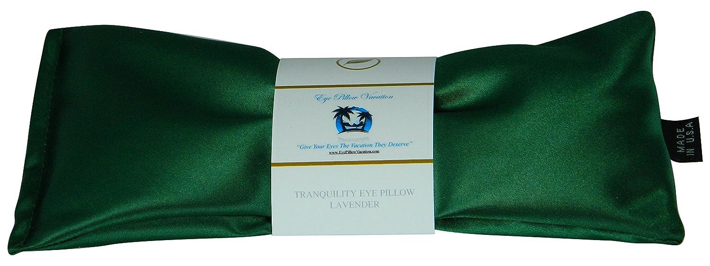 Eye Pillow Vacation Organic Flax Seed Filled Lavender Eye Pillow, Black - Ultra Silky Satin