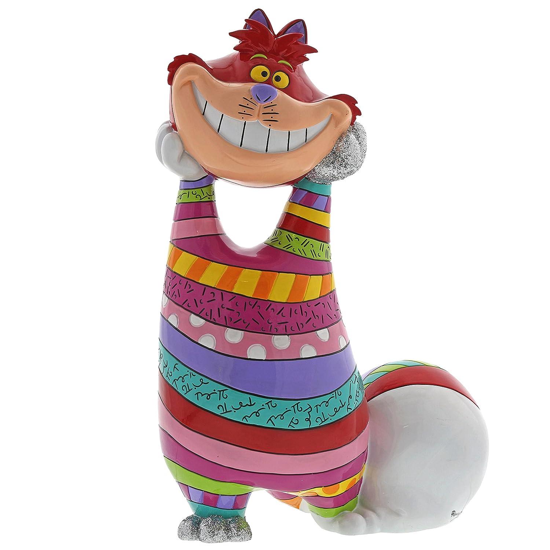 """Enesco Disney by Britto """"Alice in Wonderland"""" Cheshire Cat Stone Resin Figurine, 14.25"""", Multicolor"""