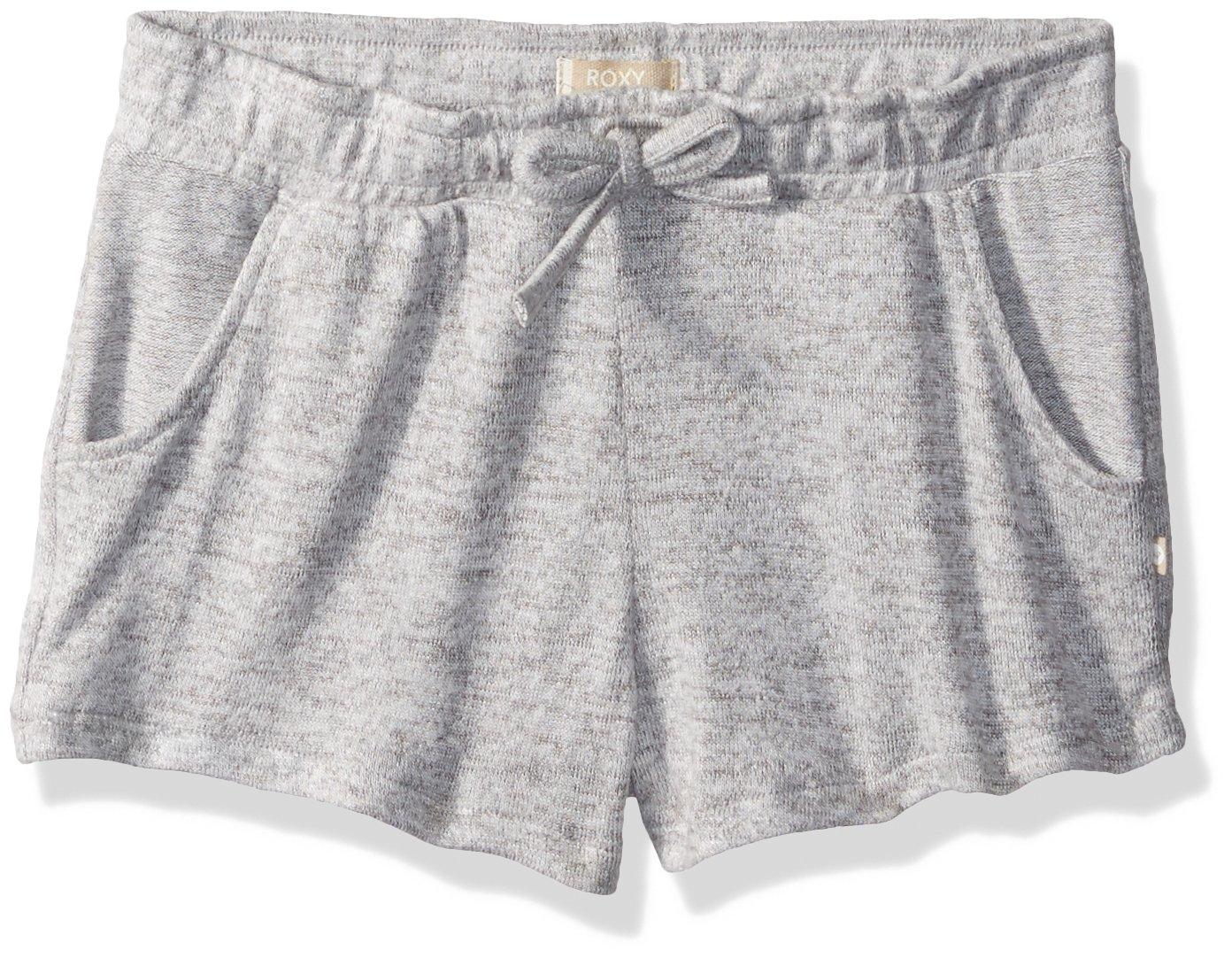 Roxy Big Girls' Summer Carnival Fleece Shorts, Heritage Heather, 14/XL