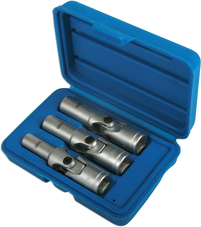 Neilsen 4pc 3//8 Drive Glow Plug Socket Set Universal Joint 8 12mm Glow Plugs 10