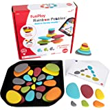 Rainbow Pebbles-13272 Edx Education FunPlay - Homeschool Kit for Kids - 36 Sorting and Stacking Toys + 50 Activities + Messy