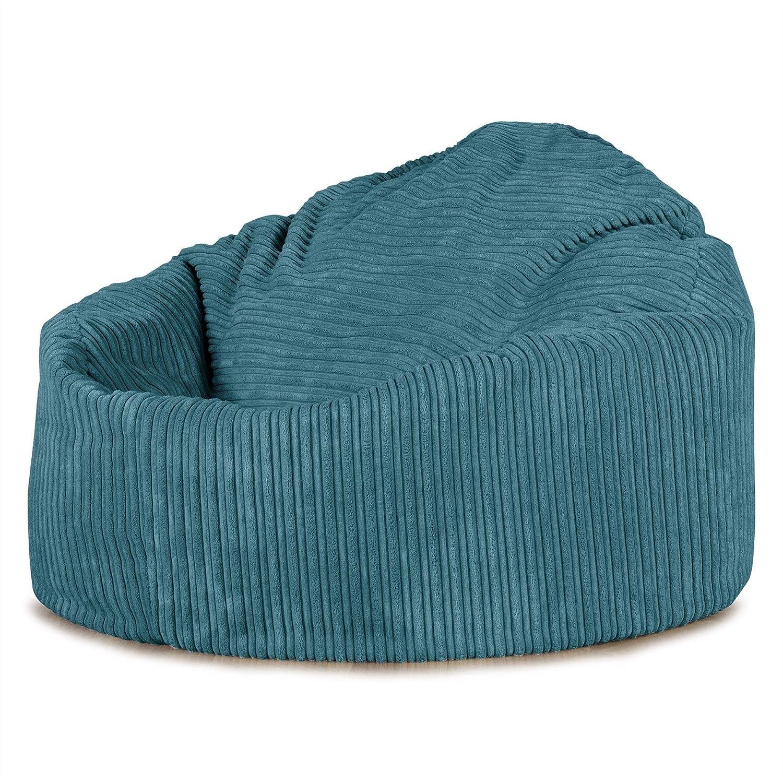 Lounge Pug®, Poltrona Sacco 'Mini Mammut', Pouf, Corda Classica - Egeo Blu