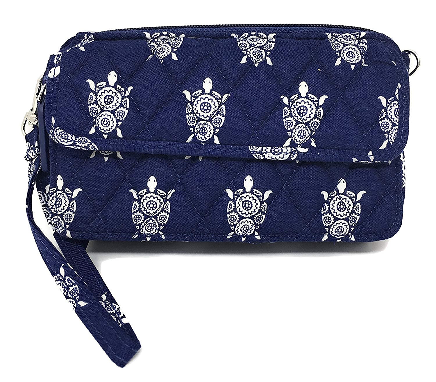 新作 Vera Bradley ACCESSORY With レディース Interiors B07B421GHX One Size|Sea Turtles Sea With Navy Interiors Sea Turtles With Navy Interiors One Size, DEPOS(デポス):26475980 --- egreensolutions.ca