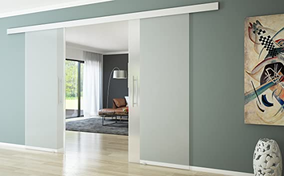 Puerta corredera de cristal Puerta Corredera Cristal Puerta de cristal Divisiones 775x2050 tirador Tirador alargado: Amazon.es: Hogar