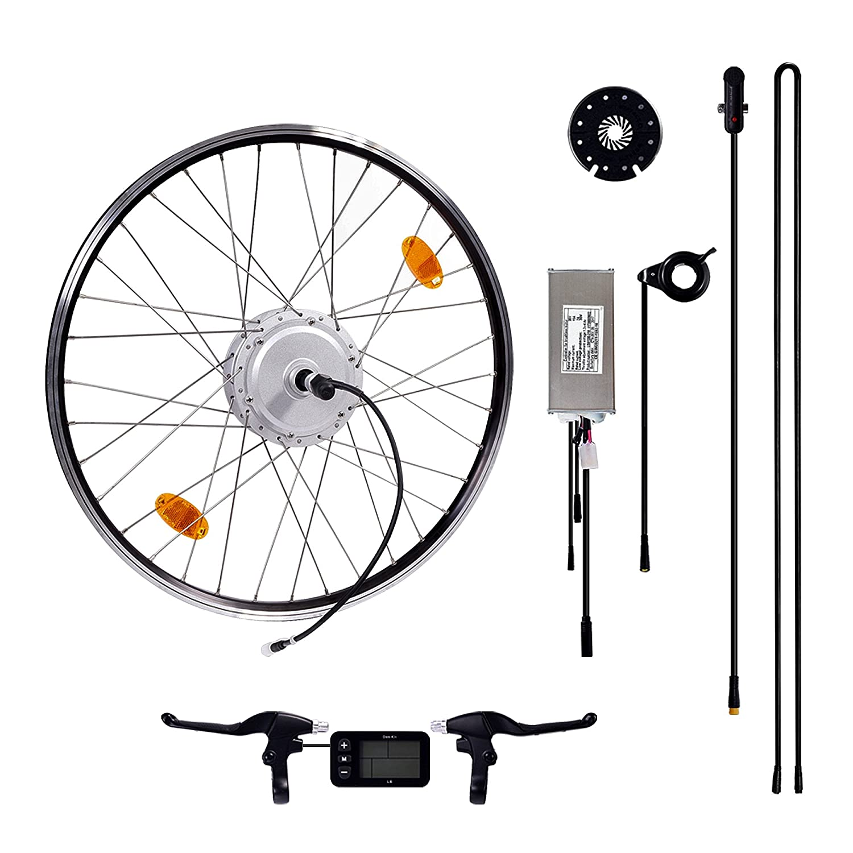 Das-Kit E-Bike Conversion Kit 26 // 27,5 // 28 Conversion kit with Bafang rear motor 36V 250W LCD-Display for Freewheel
