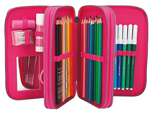 Depesche 784 Estuche 3 Compartimento TOPModel, Pop Star Guitarra, Color Rosa: Amazon.es: Juguetes y juegos