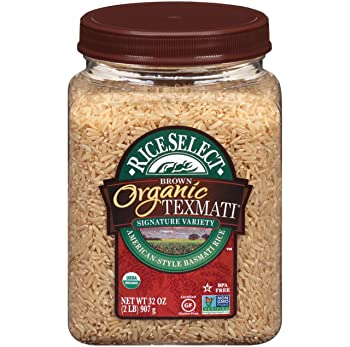 RiceSelect 32-Ounce Jars Organic Texmati Brown Rice
