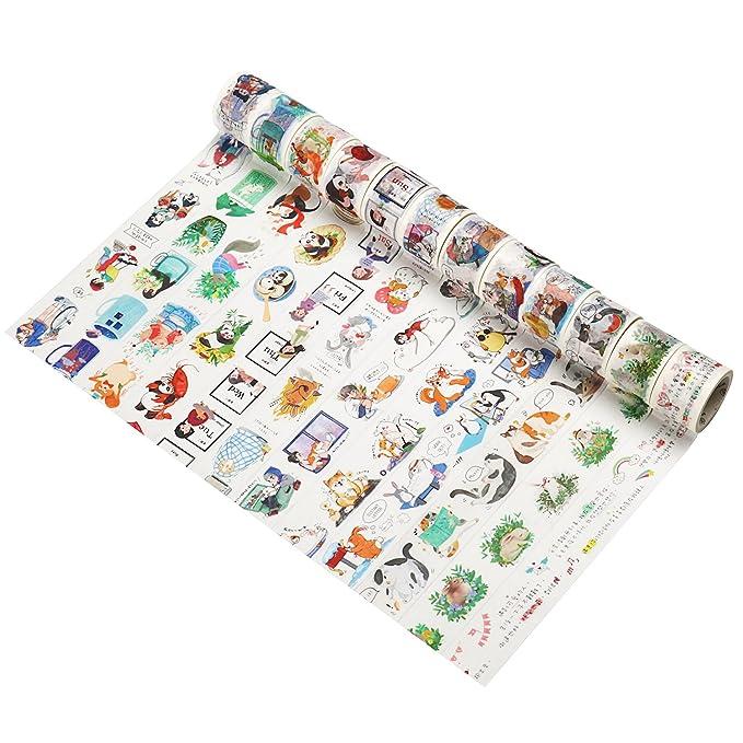 Molshine Washi cinta de carrocero, cinta adhesiva de papel para bricolaje, decoración para el hogar, objetos pequeños, belleza, manualidades, regalos, ...