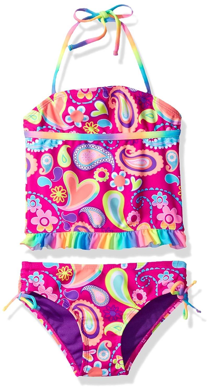 Breaking Waves Little Girls Boho Cutie Tankini Swimsuit
