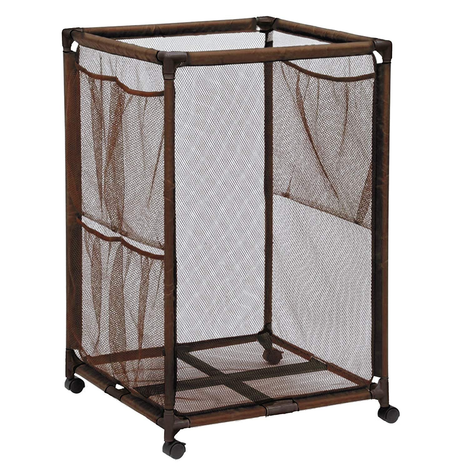 Essentially Yours Rolling Pool Storage Organizer Bin, Large, Brown by Essentially Yours