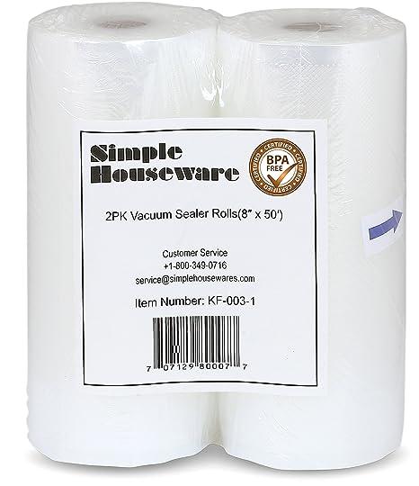 Amazon.com: SimpleHouseware - 2 paquetes de rollos de ...