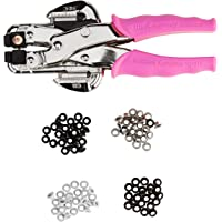 We R Memory Keepers 70908-4 Crop-A-Dile Eyelet and Snap Punch Kit | Includes Crop-A-Dile with Pink Comfort Handle, Heavy…