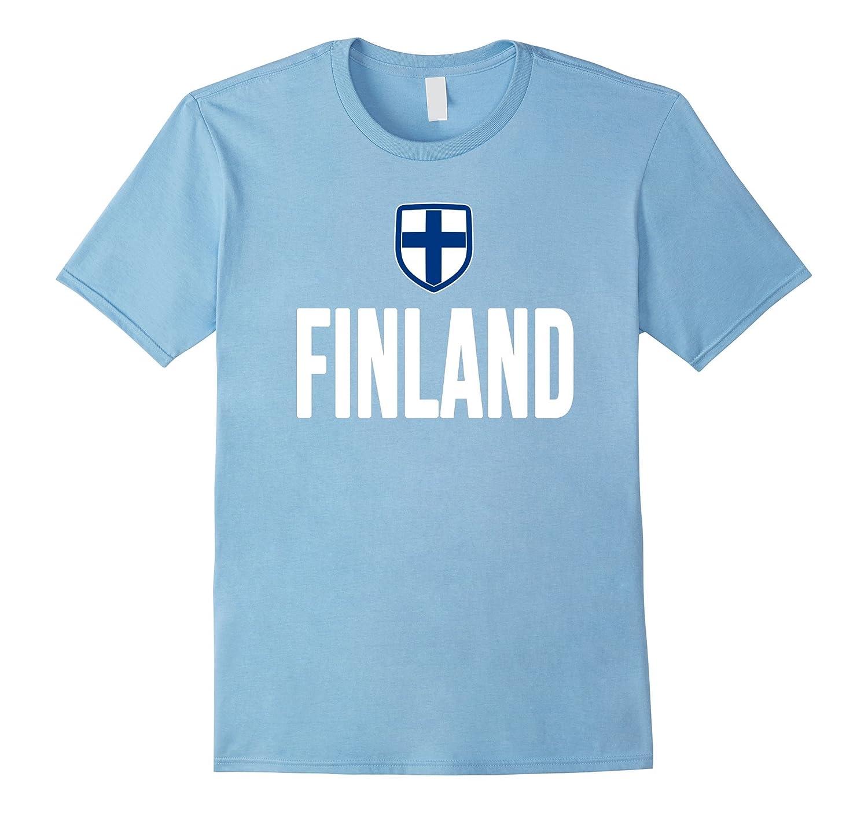 Finland T-shirt Finnish Pride Flag Tee Hockey Soccer-Art