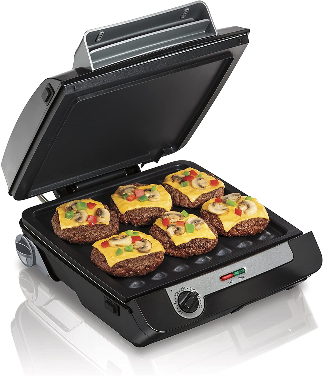 Hamilton Beach 4-in-1 Indoor Grill & Electric Griddle Combo