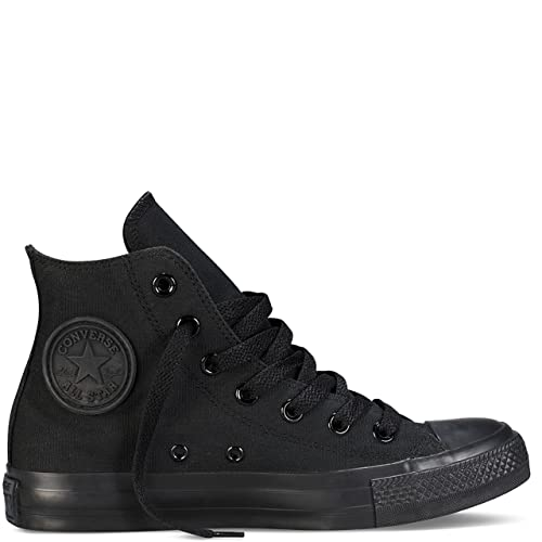 15ec8ad9906b41 Image Unavailable. Image not available for. Color  Converse Chuck Taylor  All Star High Top Black Monochrome M3310 Mens 9