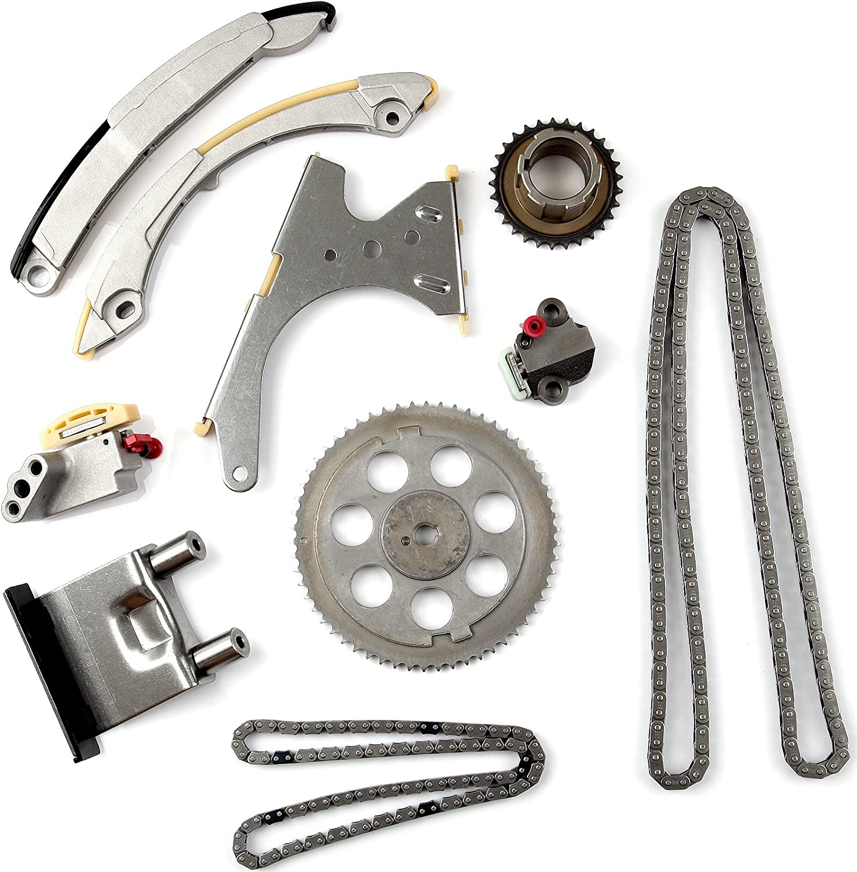 OCPTY Timing Chain Kit Tensioner Guide Rail fits for 2002-2007 GMC Envoy Chevrolet Trailblazer 4.2L DOHC VIN S TK10435-1