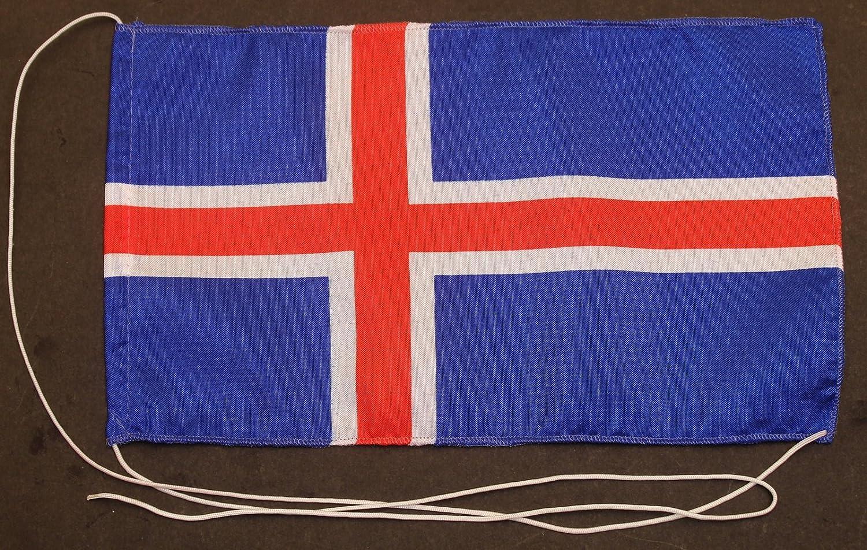 edle Ausf/ührung mit 42 cm Chrom Tischflaggenst/änder CH Buddel-Bini Island 15x25 cm Tischflagge