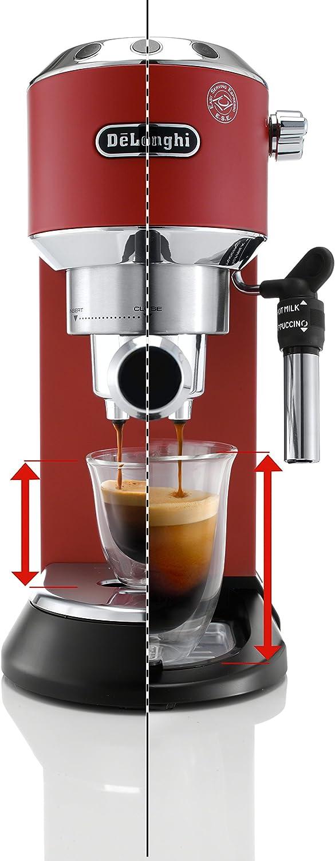 DeLonghi America, Inc EC685R Dedica Deluxe 15-Bar Pump Espresso Machine, Red