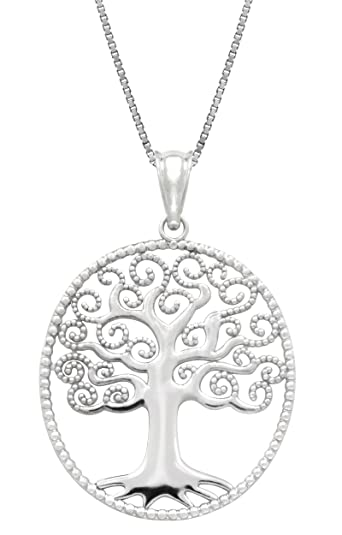 Amazon sterling silver tree of life necklace pendant with 18 amazon sterling silver tree of life necklace pendant with 18 box chain jewelry aloadofball Choice Image
