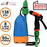 AllExtreme 12V Car Wash Self-Priming Car Wash High Pressure Electric Washing Machine Cleaning Electric Pump Pressure Washer Device Tool Water Pump Washing Machine Kit with Car Cigarette Lighter