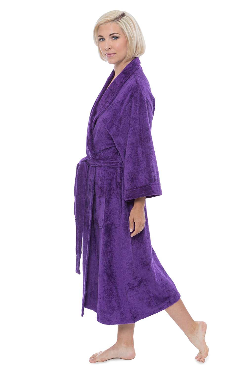 Women s Terry Cloth Bath Robe - Luxury Comfy Robes by Texere (Sitkimono) at  Amazon Women s Clothing store  3a82ea2fd