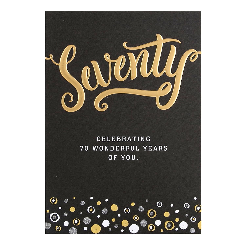 Hallmark 70th Birthday CardWonderful Years
