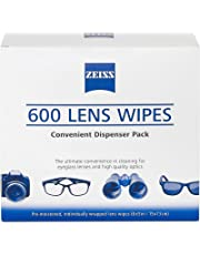 Zeiss Pre-Moistened Lens Cleaning Wipes - Cleans Bacteria, Germs and without Streaks for Eyeglasses and Sunglasses - (600 Count)