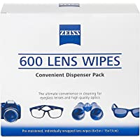 Zeiss Pre-Moistened Lens Cleaning Wipes 6 x 5-Inches 600 count