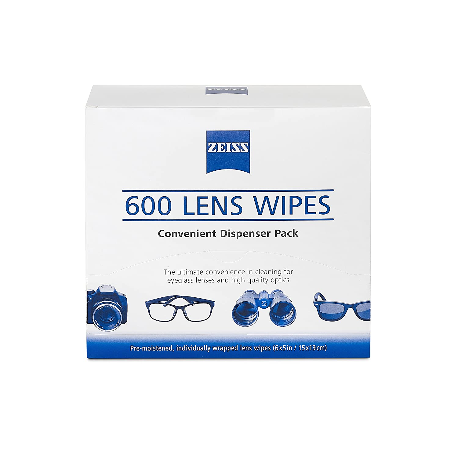 53a49325cb3 Amazon.com  ZEISS Lens Wipes - 600 Pre-Moistened Eyeglass Cleaning Wipes   Health   Personal Care