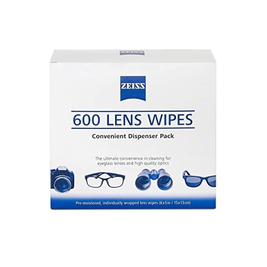 1014fdec21c4 Amazon.com  ZEISS Lens Wipes - 600 Pre-Moistened Eyeglass Cleaning Wipes   Health   Personal Care